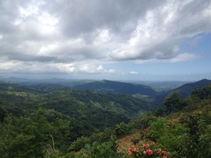 A view from the mountains near Lajas