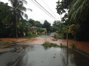 During rainy season, the bridges near our home wash out even worse than we expected.