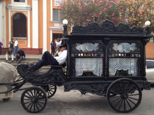 Traditional hearse