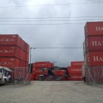 Shipping containers ready to be hauled
