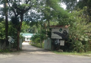 Entrance to the Sloth Sanctuary